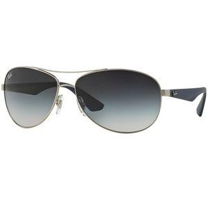 Ray-Ban Sunglasses Matte Silver w/Grey Lens